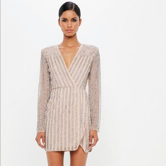 b2fc66273e2c Missguided Dresses | Carli Bybel Nude Embellished Dress | Poshmark